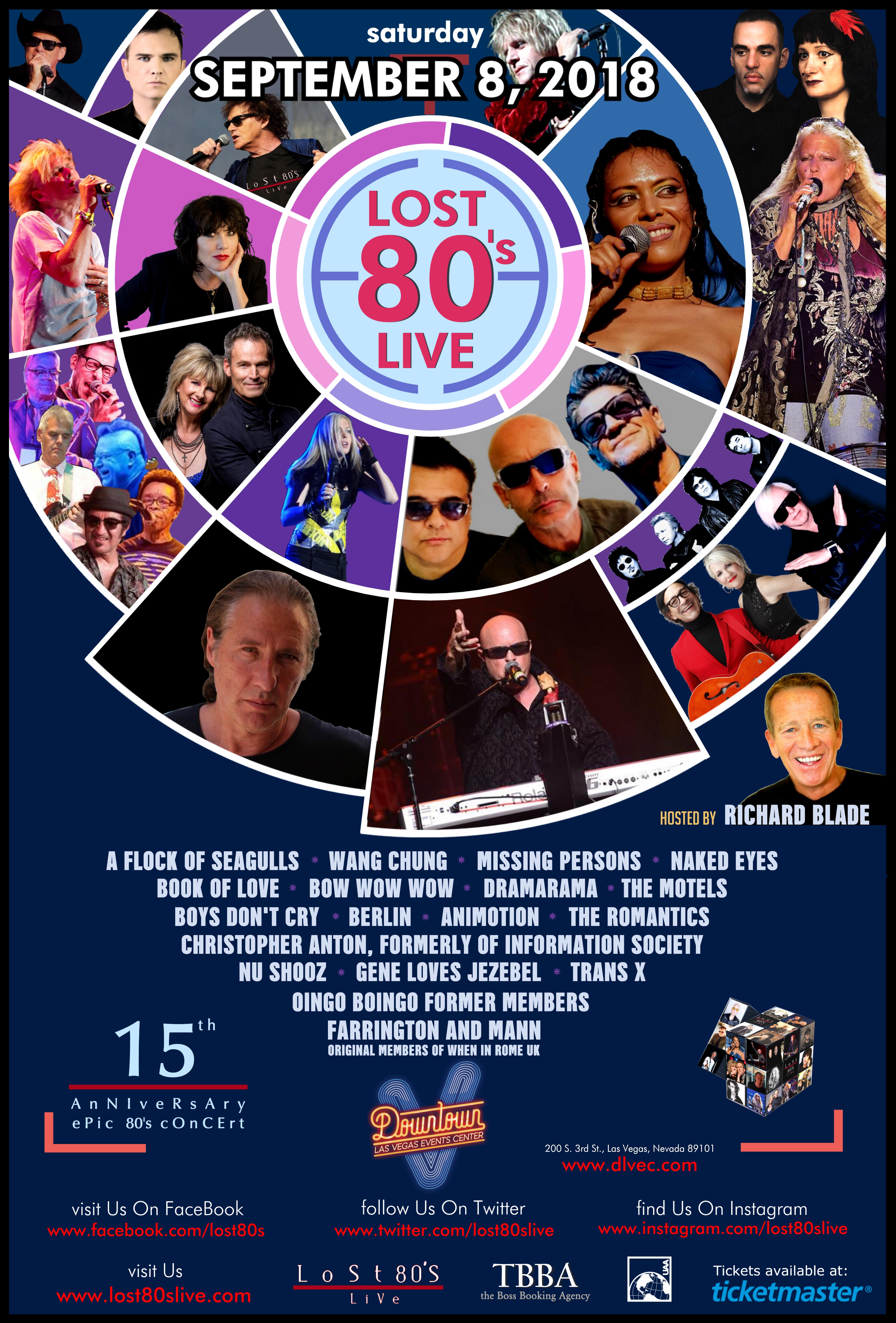 Downtown Las Vegas Event Center Lost 80s Live