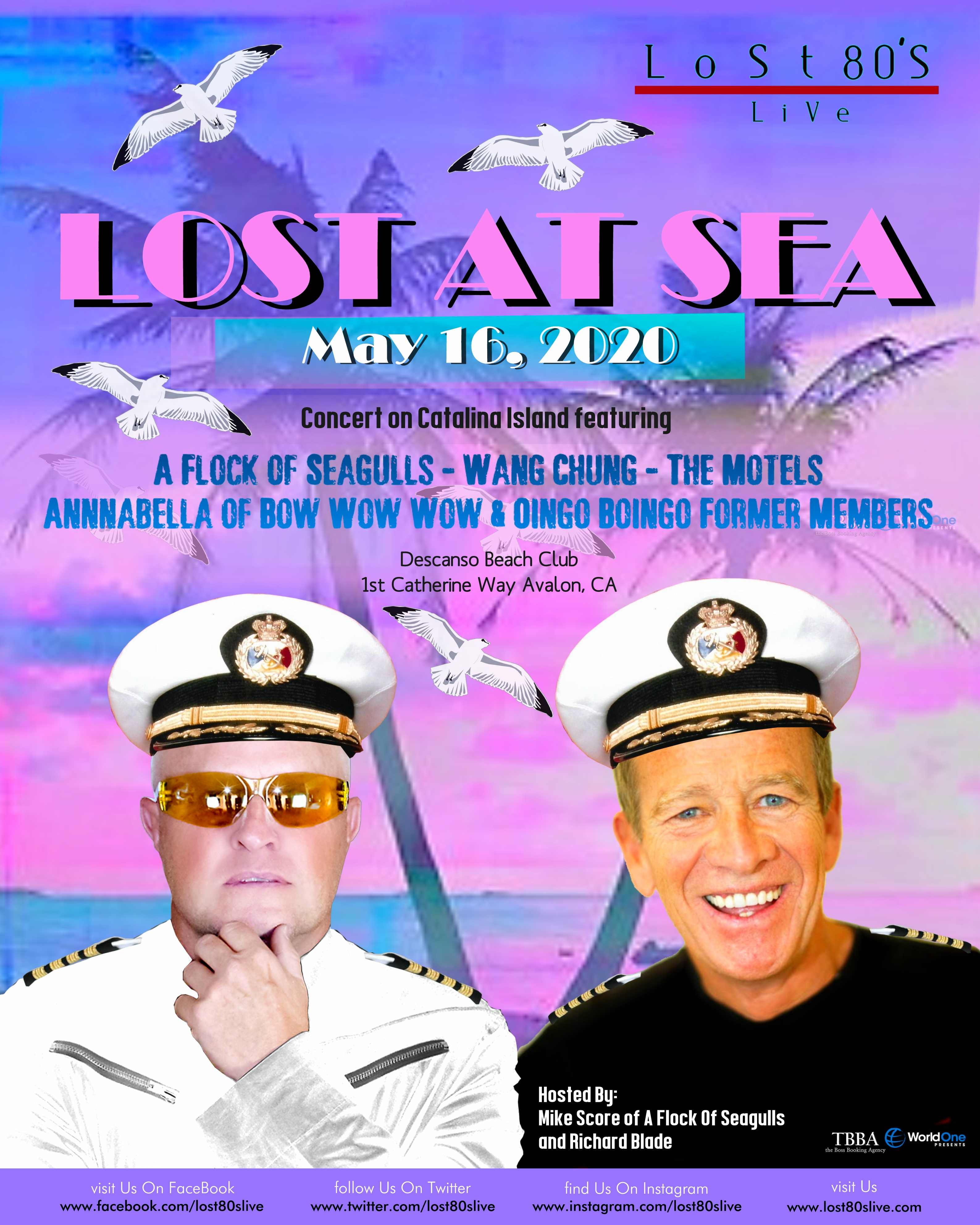 Best Beaches 2020 Lost 80's Live! Catalina Island Concert Cabana Upgrade For 10 May