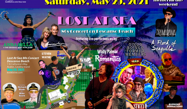 May 29, Catalina Island Lost at Sea Lost 80's Live! 80s Beach Party Things to know!